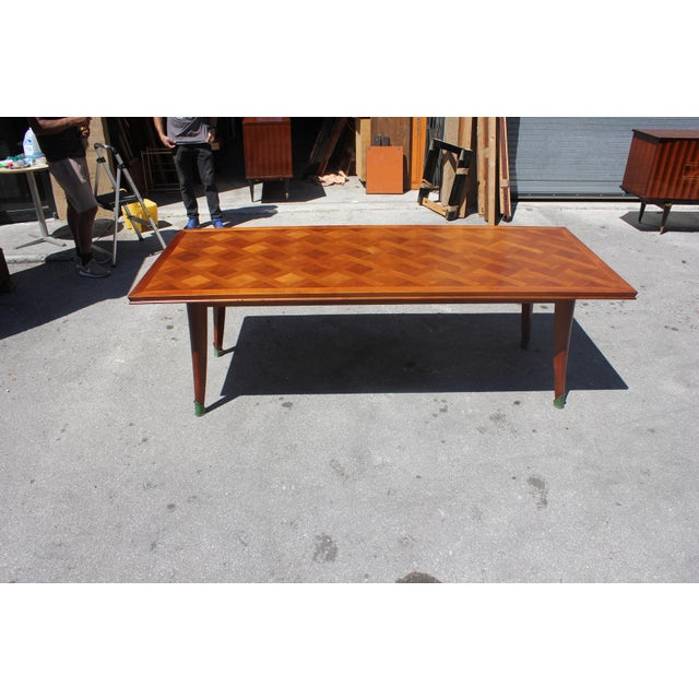 Bronze Master Piece French Art Deco Dining Table Cherry Wood By Leon Jallot 1930s For Sale - Image 7 of 13