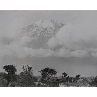 """Marjorie Hunt """"Mountain Landscape Through Clouds"""" Black and White Photograph, Circa 1960s For Sale"""