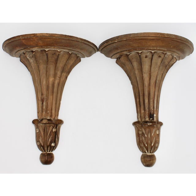 Italian Wooden Wall Shelves - a Pair For Sale - Image 10 of 10