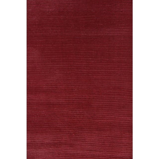 Silk Exquisite Rugs Ives Hand loom Viscose Red/Multi Rug-15'x20' For Sale - Image 7 of 10