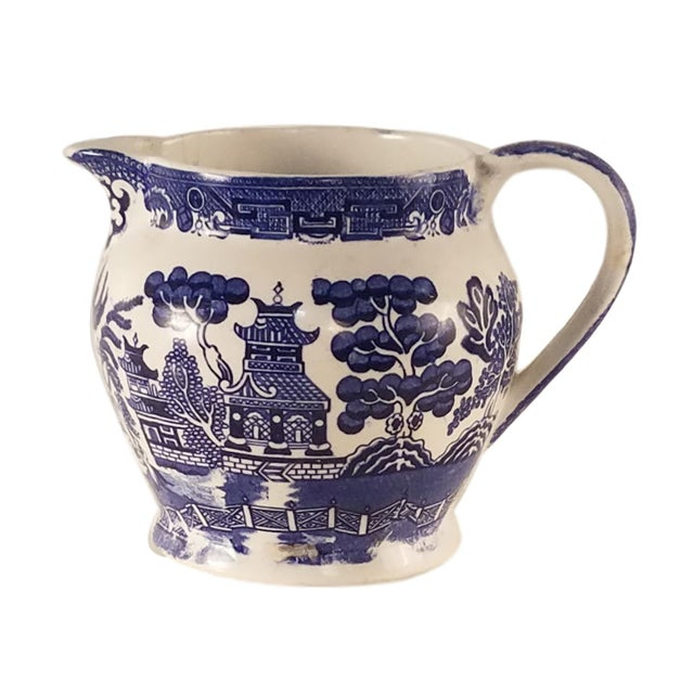 Allertons Blue and White Willow Pitcher - Image 5 of 6