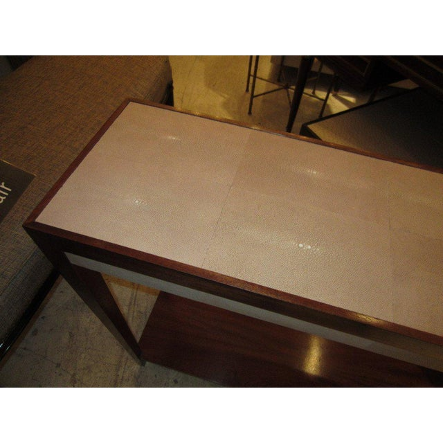 Shagreen Mahogany Console For Sale - Image 4 of 5