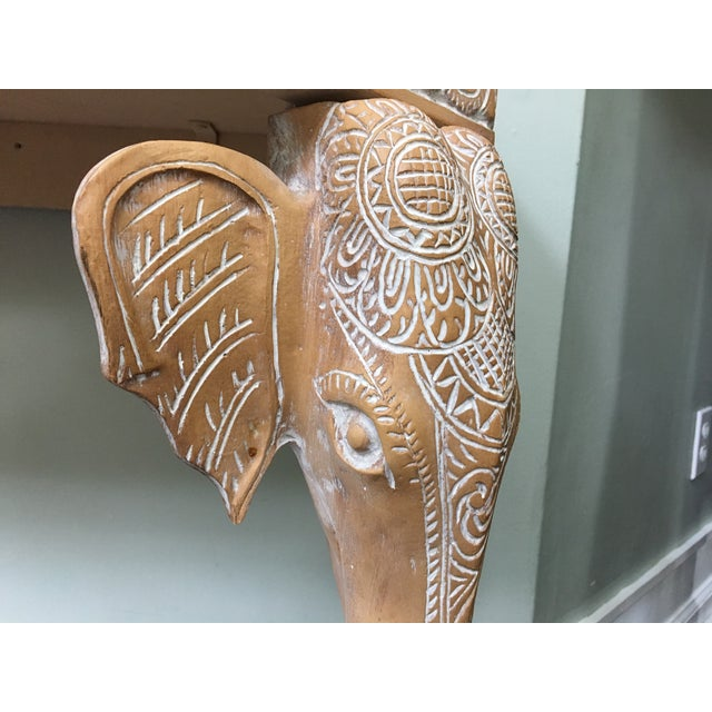 Hand-Carved Elephant Console Table - Image 5 of 11