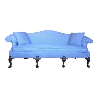 Early 20th Century Vintage Camelback Clawfoot Sofa For Sale