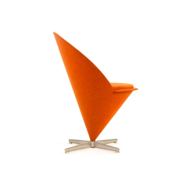 Metal 1950s Contemporary First Series Verner Panton Cone Chair For Sale - Image 7 of 11