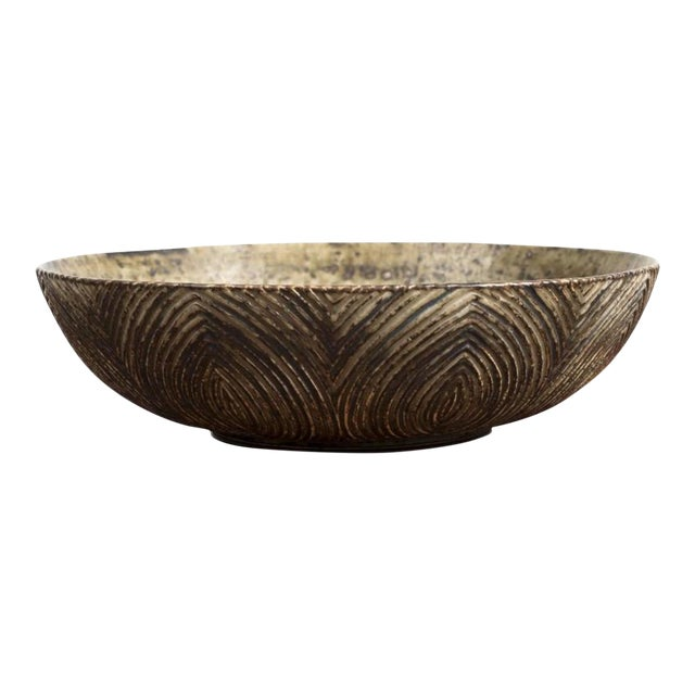 Large Bowl with Sung Glaze by Axel Salto for Royal Copenhagen For Sale
