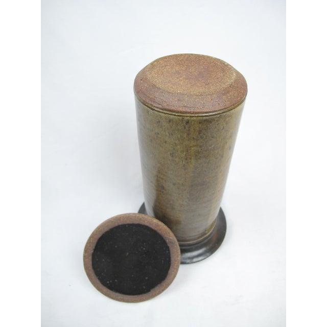 Mid Century Modern Lidded Cylinder Jar Vase For Sale In Portland, OR - Image 6 of 7