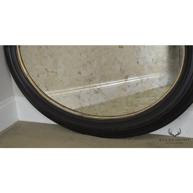 Roma Large Oval Frame Italian Wall Mirror For Sale - Image 10 of 13
