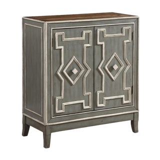 Gray & Ivory Two Door Cabinet