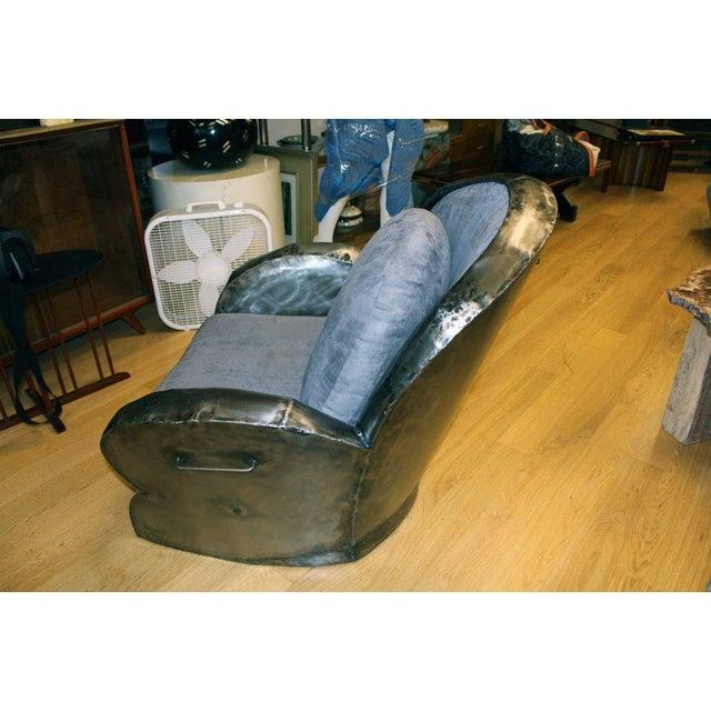 Industrial Hand Welded Unusual Steel Chair For Sale - Image 3 of 8