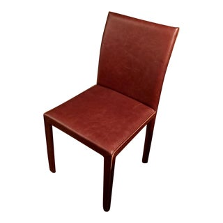 Modern Crate & Barrel Folio Leather Dining Chair For Sale