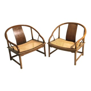 Vintage Asian Cane-Seat Chairs - a Pair For Sale