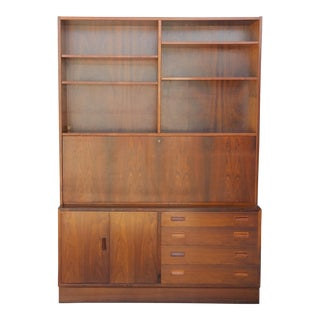 1960's Carlo Jensen Rosewood Wall Unit for Hundevad & Co For Sale