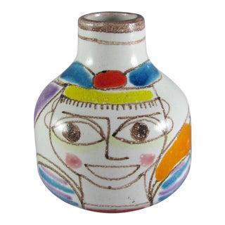 1960s DeSimone Hand Painted Ceramic Bud Vase For Sale