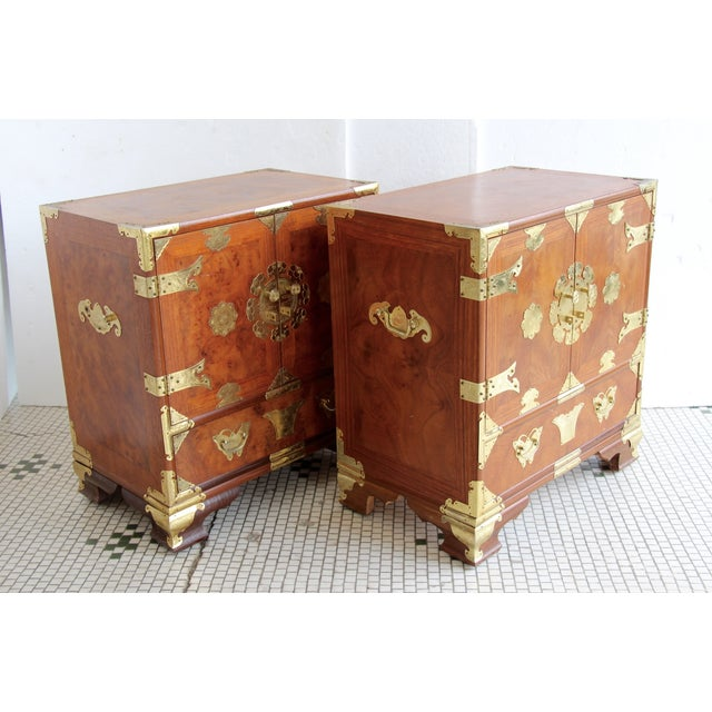 Asian-Style Butterfly Chests - Pair - Image 6 of 8