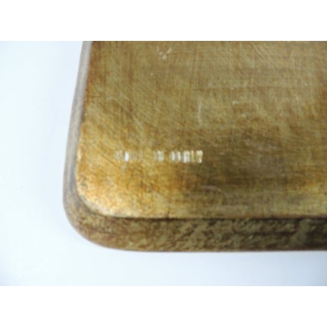 Vintage Italian Gold Leaf Serving Tray For Sale - Image 5 of 5