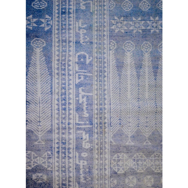 Vintage Blue and White Yadz Kilim For Sale In Chicago - Image 6 of 9