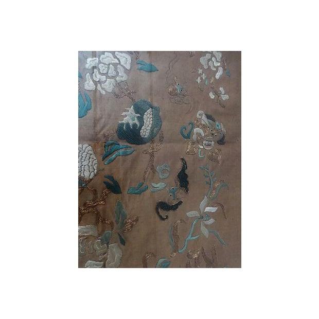 Antique Embroidery Silk Panel w/Kids - Image 10 of 10