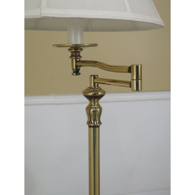 Traditional 1990s Vintage Regency Style Brass Floor Lamp For Sale - Image 3 of 7