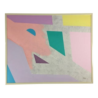 Post Modern Abstract Painting on Canvas For Sale