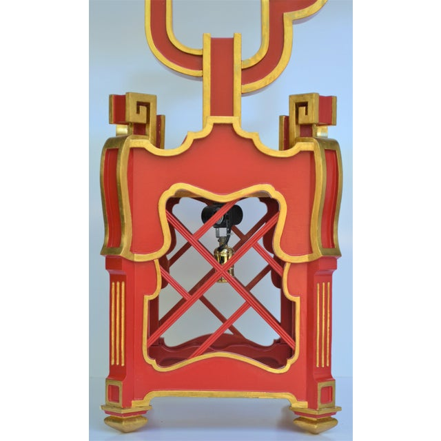1990s Custom Wooden Chinoiserie Pagoda Lantern, Designed by George Weinle For Sale - Image 5 of 13