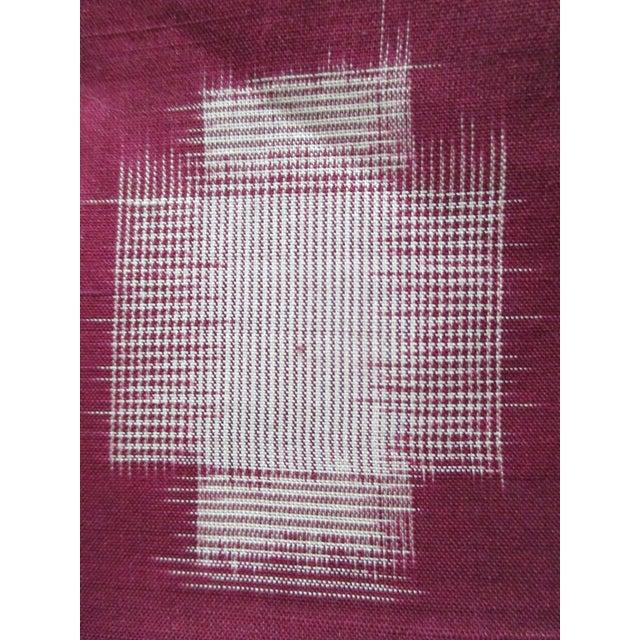 Japonisme Vintage Burgundy and Natural Obi Textile For Sale - Image 3 of 6