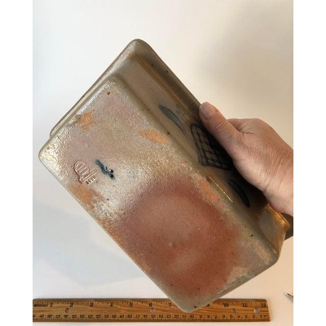 Beige Rowe Pottery Salt Glazed Loaf Dish - Vintage Farmhouse For Sale - Image 8 of 12