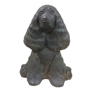 Vintage Virginia Metalcrafters Cocker Spaniel Doorstop For Sale
