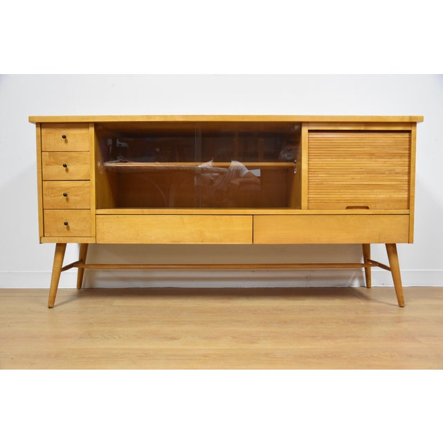 """This Mid-Century Modern solid maple credenza was designed by Paul McCobb for O'Hearn """"Predictor"""" collection. This rare..."""