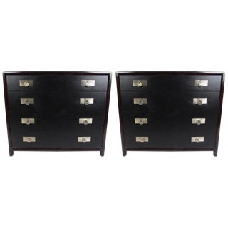 Pair of Vintage Modern Baker Dressers by Michael Taylor For Sale