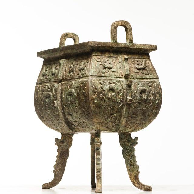 Verdigris Bronze Incense Burner For Sale In Seattle - Image 6 of 7