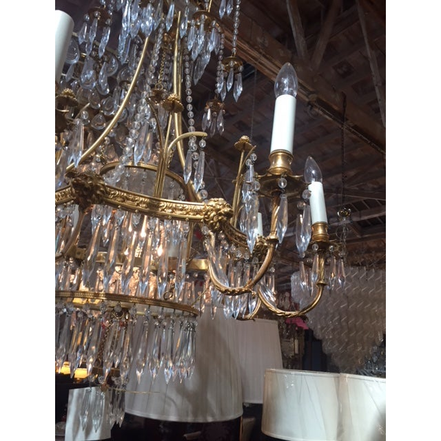 1950s Vintage Neo-Classic Brass Dore Chandalier For Sale - Image 11 of 13