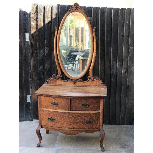 Vintage Princess Dresser With Mirror Chairish