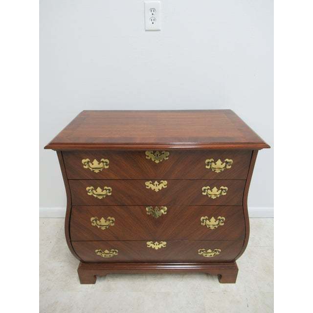 French Country Weiman Serpentine Bachelors Chest For Sale - Image 13 of 13