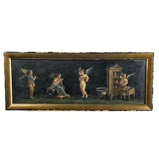 Late 19th Century Antique French Oil on Canvas Framed Painting For Sale