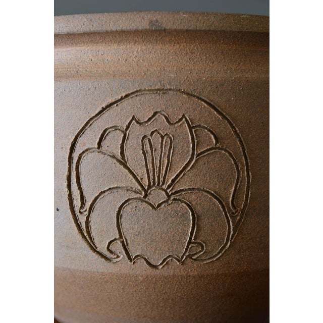 Robert Maxwell David Cressey Robert Maxwell Incised Flower Motif Planter, Circa 1970 For Sale - Image 4 of 8