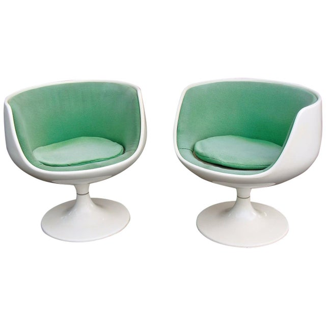 White Asko Eero Aarnio Cognac Chairs - a Pair For Sale - Image 8 of 8