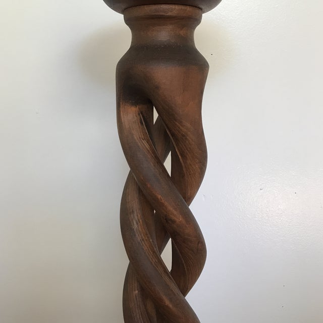 Vintage Italian Walnut Open Barley Twist Plant Stand For Sale In San Francisco - Image 6 of 13