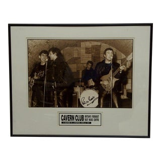 Pete Best, Britain's Cavern Club Signed Photo For Sale