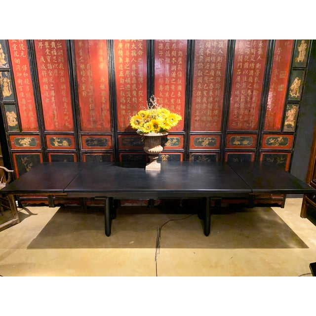 Mid-Century Modern Extension Dining Table Attributed to Guillerme Et Chambron For Sale - Image 10 of 12