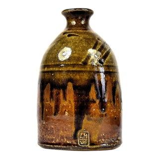 Vintage 1970s Alex Mandli Handmade Pottery Stoneware Pottery Jug For Sale