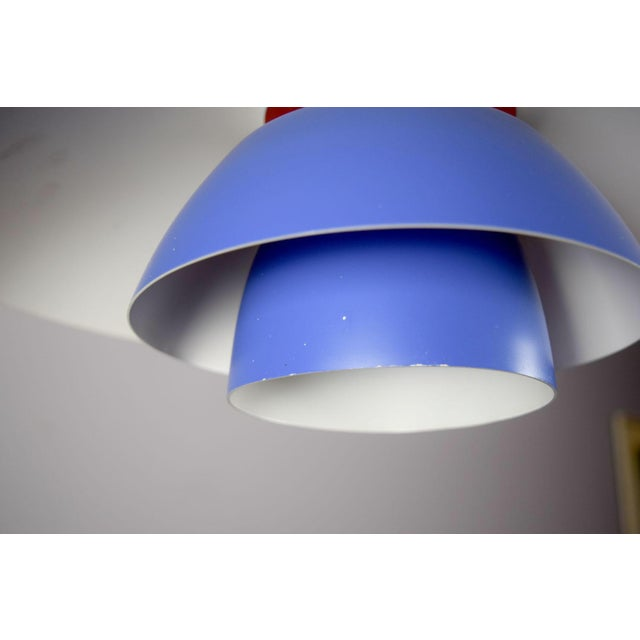 Blue Vintage Poul Henningsen Ph 4/3 Pendant Light For Sale - Image 8 of 9
