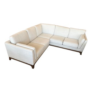 Mid-Century Style Pure White Corner Sectional