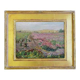 Valentine Costello (1875-1937), Pink Flower Fields Oil Painting