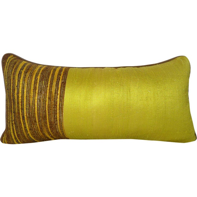 Contemporary Hand-woven Thai Silk Pillow For Sale - Image 3 of 3