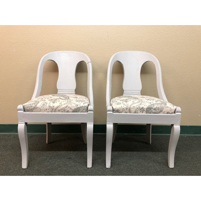 Vintage Chalk Paint Chairs - a Pair For Sale - Image 13 of 13