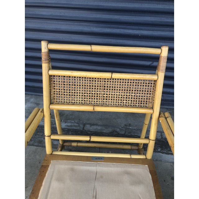 Mid Century Ficks Reed Rattan Lounge Chair For Sale - Image 10 of 12