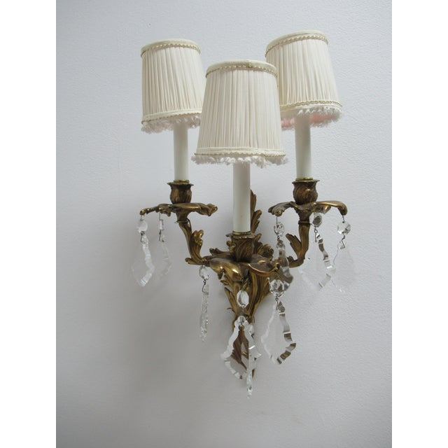 Vintage Chapman Brass French Regency Wall Sconces - a Pair For Sale - Image 9 of 12