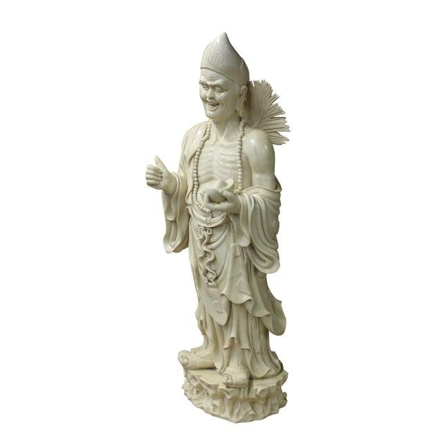 Chinese Porcelain Chan Master Daoji Buddha Beggar Figure For Sale - Image 4 of 6