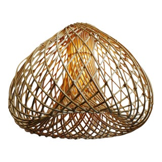 Rattan Java Drop Lantern Large For Sale